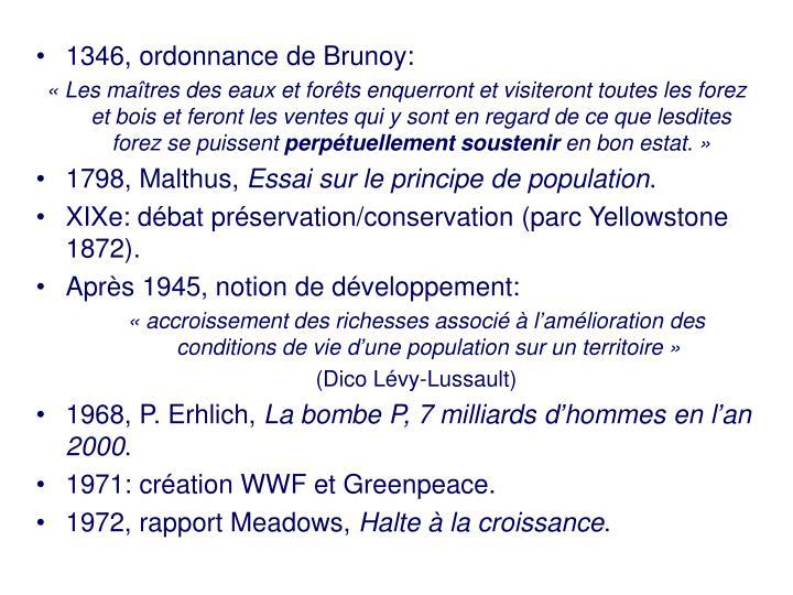 1346, ordonnance de Brunoy: