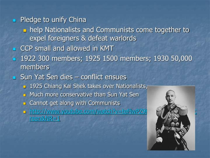 Pledge to unify China
