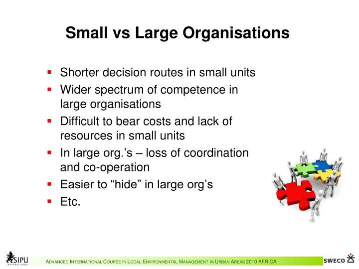 Small vs Large Organisations
