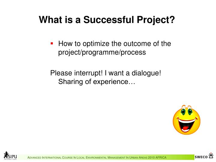 What is a successful project