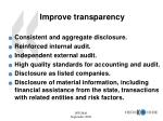 improve transparency