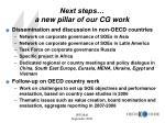 next steps a new pillar of our cg work
