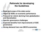 rationale for developing the guidelines