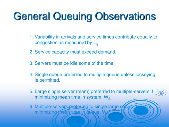 General Queuing Observations