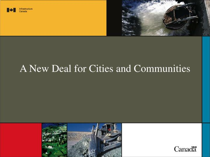 a new deal for cities and communities n.
