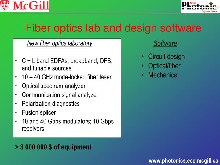 New fiber optics laboratory