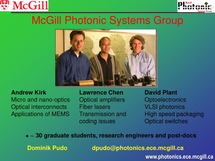Mcgill photonic systems group