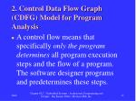 2 control data flow graph cdfg model for program analysis