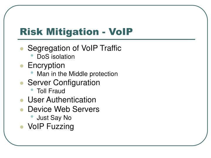 Risk Mitigation - VoIP
