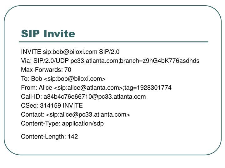 SIP Invite