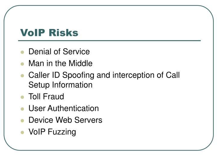 VoIP Risks