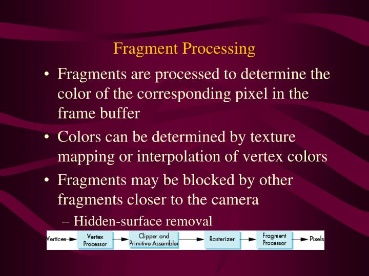 Fragment Processing