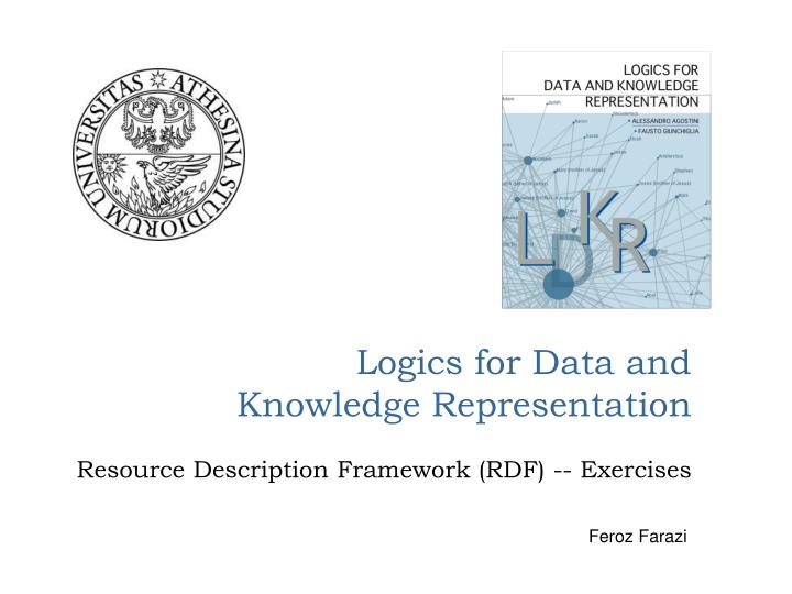 logics for data and knowledge representation n.