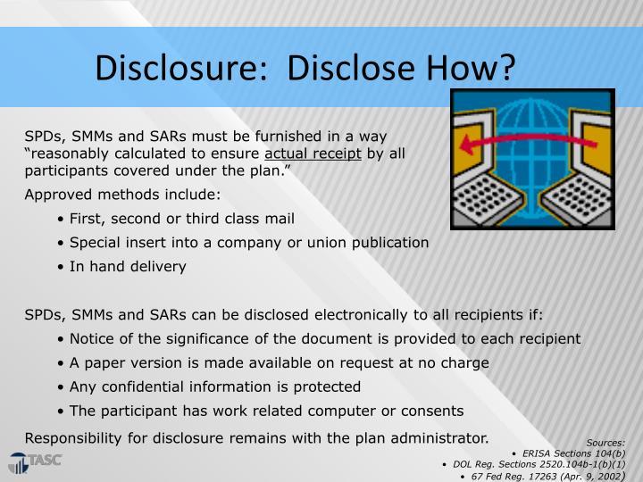 Disclosure:  Disclose How?