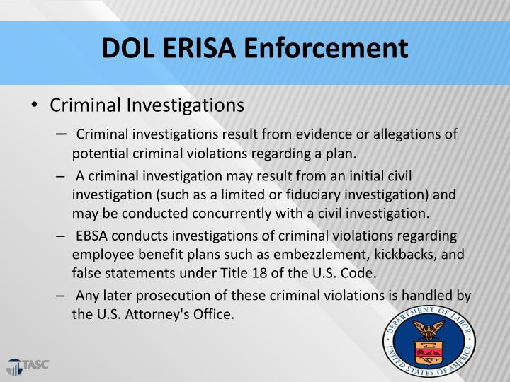 DOL ERISA Enforcement