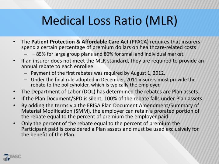 Medical Loss Ratio (MLR)