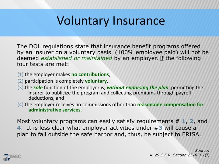 Voluntary Insurance