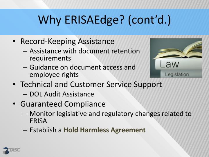 Why ERISAEdge? (cont'd.)