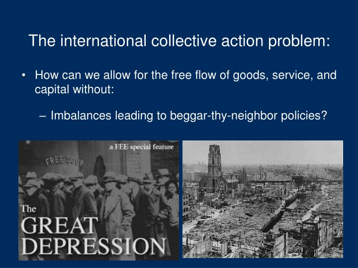 The international collective action problem: