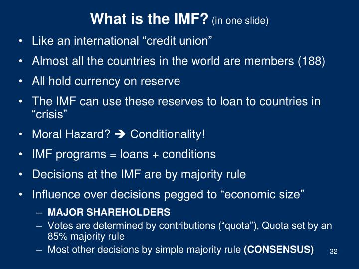 What is the IMF?