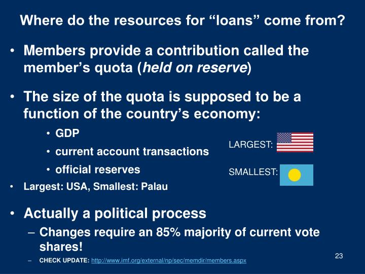 "Where do the resources for ""loans"" come from?"