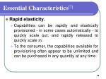 essential characteristics 73