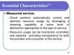 essential characteristics 74