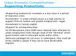 urban economic competitiveness supporting productivity