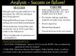 analysis success or failure1