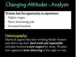 changing attitudes analysis