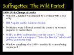 suffragettes the wild period