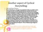another aspect of cyclical storytelling