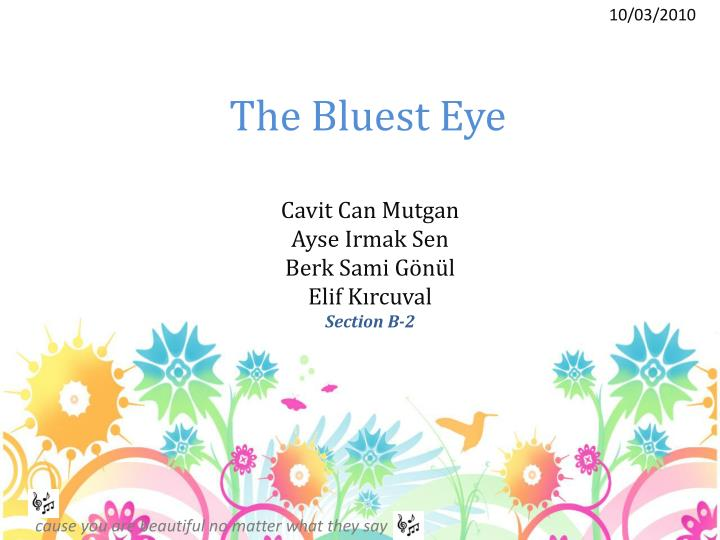 the bluest eye n.