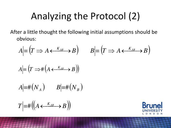 Analyzing the Protocol (2)