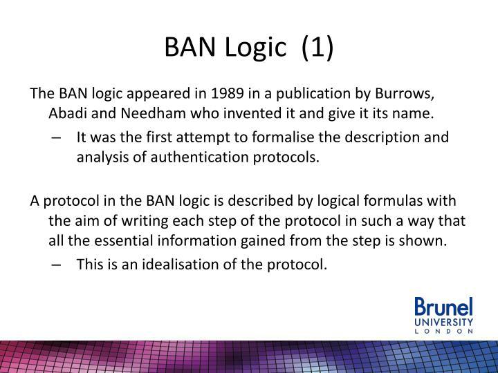 BAN Logic  (1)