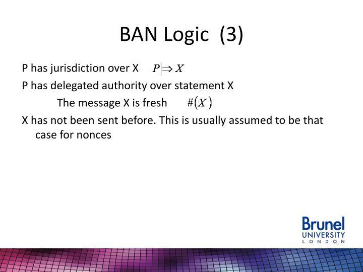 BAN Logic  (3)