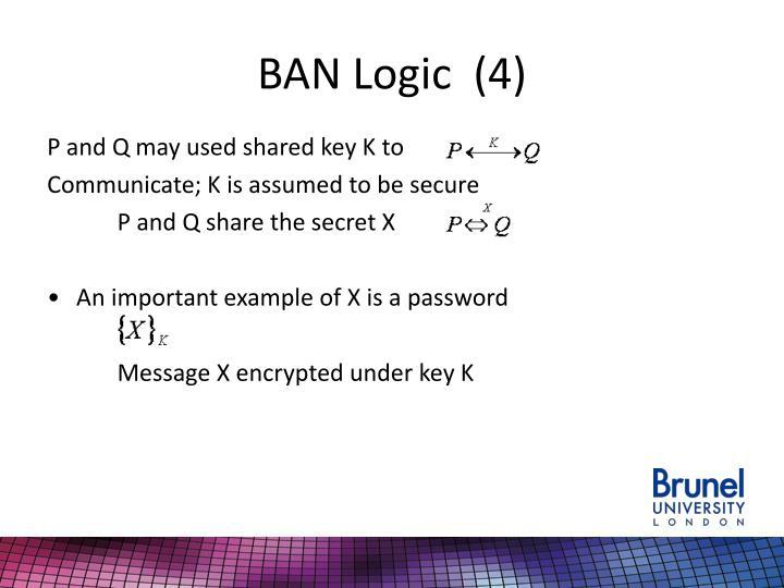 BAN Logic  (4)