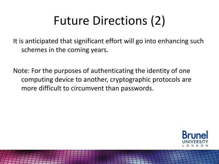 Future Directions (2)