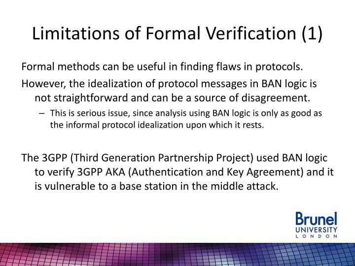 Limitations of Formal Verification (1)