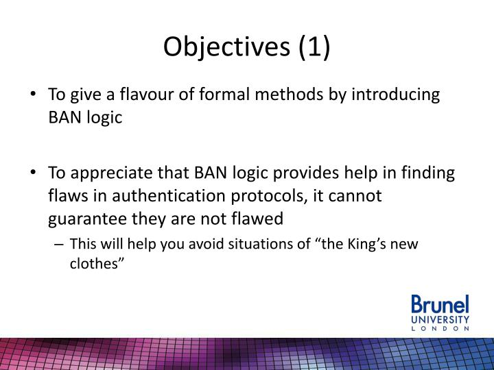 Objectives 1