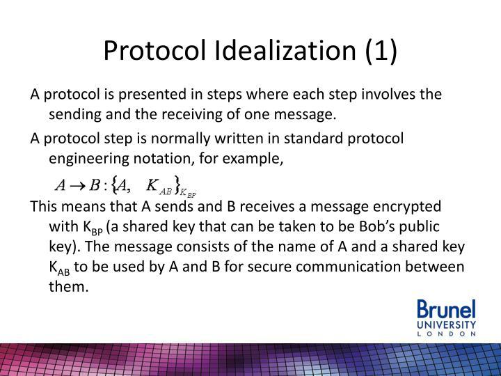 Protocol Idealization (1)