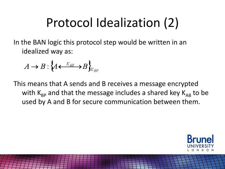 Protocol Idealization (2)