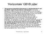horizontale gbvb pijler