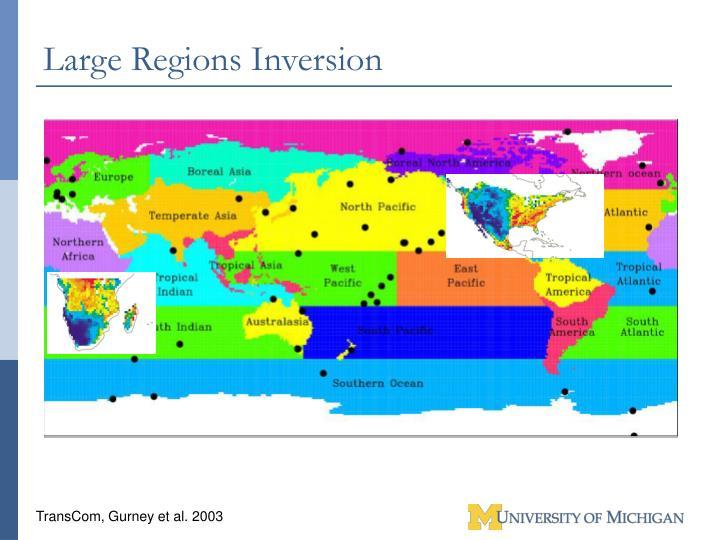 Large Regions Inversion