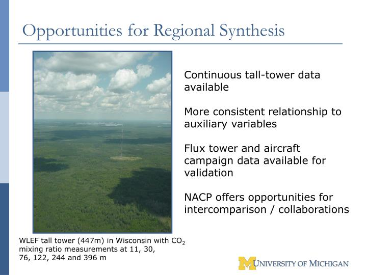 Opportunities for Regional Synthesis