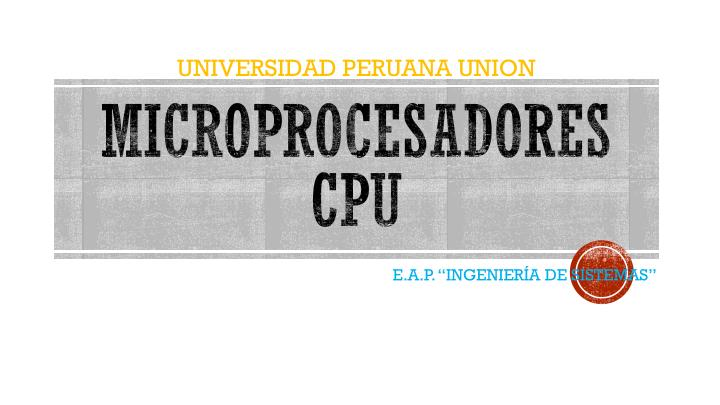 microprocesadores cpu n.