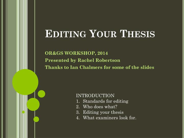 editing your thesis n.