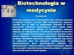 biotechnologia w medycynie1