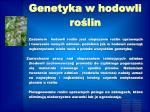 genetyka w hodowli ro lin1