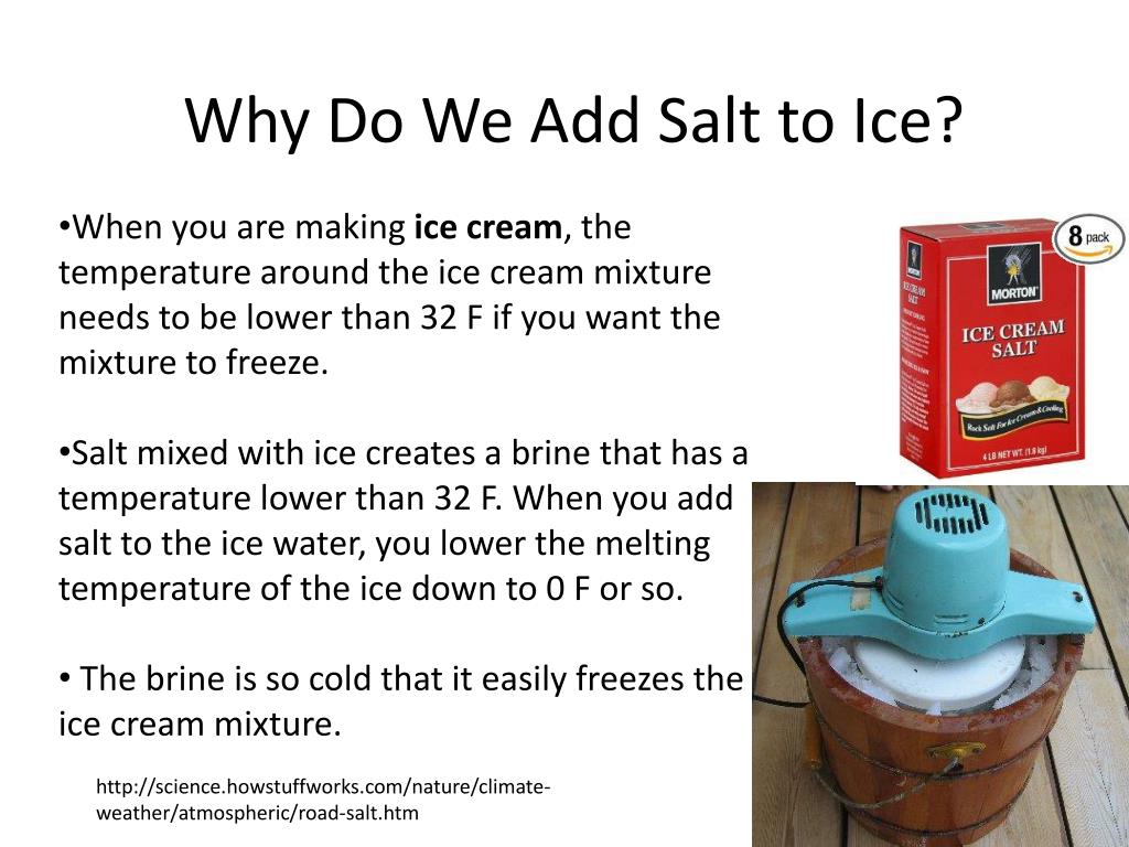 PPT - Why Do We Add Salt to Ice? PowerPoint Presentation